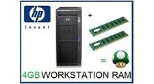 4GB (2x2GB) DDR3 ECC UDimm Memory Ram Upgrade HP Z200 Z400 Z600 Z800 Workstation