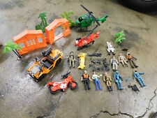 Lanard The Corps & Other Lot Figures Vehicles Jeep Helicopter Motorcycle Weapons