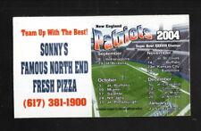 New England Patriots--2004 Magnet Schedule