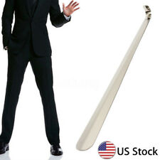 ☆ 20'' Extra Long Handle Shoe Horn Stainless Steel  Handled Metal Shoehorn Horns