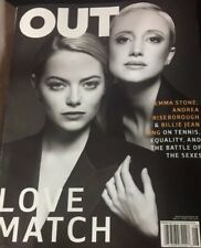 Out Magazine© August 2017 Love Match-Emma Stone, Billie Jean King, Lgbt Lesbian