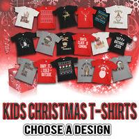 Boys or Girls Funny CHRISTMAS Kids T-Shirt - Choose a Design