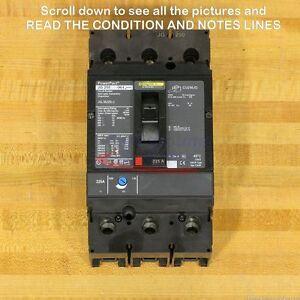 Square D JGL36225LC Circuit Breaker, 225 Amp, 600 V, Used