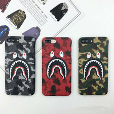 BAPE A Bathing Ape Shark Camo Case Hard Cover For iPhone 11 XS MAX X 8 7 6 Plus