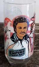 Empire Strikes Back LANDO CALRISSIAN Burger King Coca Cola Glass Tumbler 1980