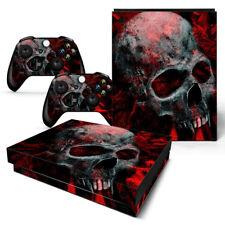XBOX ONE X Skin Design Foils Aufkleber Schutzfolie Set - Vampire Skull Motiv