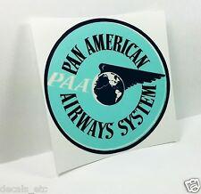PAN AMERICAN Airways PAA Vintage Style Travel Decal /Vinyl Sticker,Luggage Label