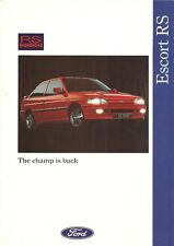 FORD ESCORT RS2000 THE CHAMP IS BACK BROCHURE.