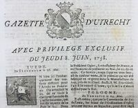 Kaiserswerth 1758 Halbertstadt Pologne Varsovie La Haye Rohan Utrecht Dresde