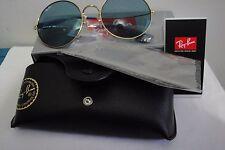 Ray-Ban RB3592 001/F7, 55mm, Gold/Light Blue, 100%UV, Metal, Women, Round