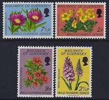 1972 GUERNSEY WILD FLOWERS SET OF 4 FINE MINT MNH/MUH