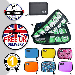 Cable Organiser Earphone Bag Electronics Accessories Case Travel Gadget Pouch UK