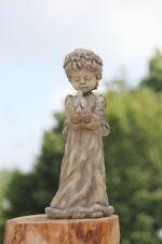 Engel TALIA mit Vogel Vidroflor Steinguss Steinfigur Skulptur frostfest Grabdeko