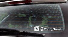 FUNNY CAR STICKER JDM DRIFT EURO WINDOW VW VINYL DECAL INSTAGRAM YOUR NAME X2