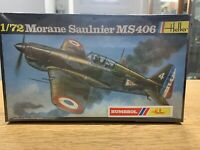 HELLER Morane Saulnier MS406 1/72 213  Model kit Aircraft Figher Plane