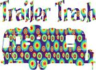 YETI CUP SIZE Trailer Trash Circle Tie Dyed Sticker Decal