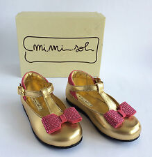Girl's Mi Mi Sol at Andrea Montelpare Gold & Pink Shoes Size 22 (UK 5) - (VS204)