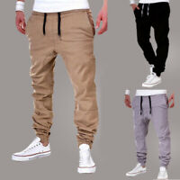 Mens Sport Pants Long Trousers Tracksuit Gym Fitness Workout Joggers Sweatpant