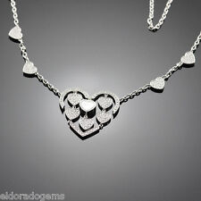 CHOPARD AMORE HEARTS HAPPY DIAMONDS NECKLACE 817219-1002 18K WHITE GOLD $25,930
