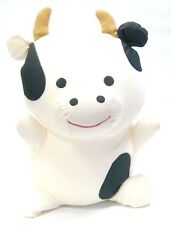 """Snow Foam Micro Beads 14""""-16"""" Japanese Full Size Smiling Cow Cushion Pillow-New"""