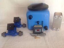 impianto termocamino vaso aperto centralina sonda ntc 2 pompe 1 scambiatore 40p