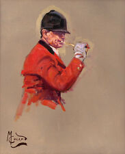Fox hunting limited edition print by Malcolm Coward. The Huntsman