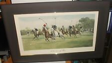 """GEORGE WRIGHT """"A QUESTION OF PACE"""" POLO MATCH LARGE COLOR ENGRAVING"""