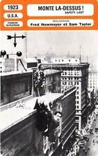 FICHE CINEMA : MONTE LA-DESSUS - Lloyd,Davis,Newmeyer 1923 Safety Last !