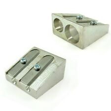 2 x Double Hole Metal Pencil Sharpeners - by OMG