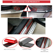 58CM Carbon Fiber Car Door Scuff Sill Cover Plates Panel Step Protector Sticker