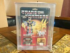 TRANSFORMERS HASBRO G1 REWIND & STEELJAW 1987 NEW SEALED AFA 40 VERY RARE!