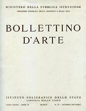 BOLLETTINO D'ARTE ANTICA ARCHEOLOGIA PITTURA SCULTURA LIBRERIA DELLO STATO