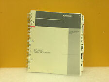 Hp / Agilent 08591-90106 8591C Cable Tv Analyzer Quick Reference Guide