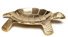 "Brass Turtle Incense Cone Burner 4.25"" Ash Catcher NEW {:-)"