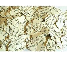1000 Vintage LIBRO CUORE Confetti/Tavola Zuccherini. Matrimonio Decorazione riciclato