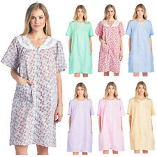 d9590a20bc02 Casual Nights Women's Zip Up Short Sleeve Dress Housecoat Duster Lounger  Robe