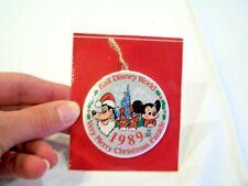 Walt Disney World Christmas Ornament c. 1989, NWT