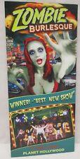 Vintage Zombie Burlesque Theater Planet Hollywood Las Vegas Nevada Brochure