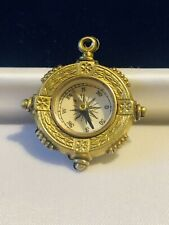 / Pendant From Early 1900S Rare Antique Edwardian Rolled Gold Compass Fob