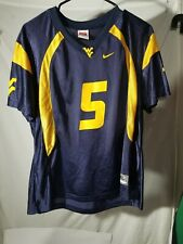 West Virginia Mountaineers #5 Nike Brand Football Jersey Size Youth Xlarge Xl