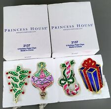NIB Princess House Set of 8 Holiday-Christmas Plate Clips-#2137-VERY RARE & HTF!