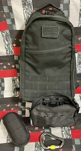 GORUCK BULLET RUCK 15L BLACK MADE IN THE USA W/EXTRAS