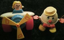 Vintage Fisher Price # 2017 Plane &Humpty Dumpty Pull Toys Awesome(S)