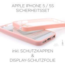 Apple iPhone / SE / 5S / 5 TPU Bumper Handy Hülle Schutzhülle in rosa pink