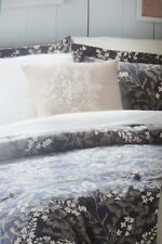 Cuddl Duds Blue Floral Heavyweight Flannel Full Queen 6pc Comforter Set