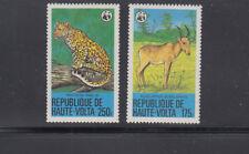 Burkina 1979 WWF Leopard Sc  510-511  Mint Never Hinged