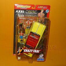 2002 GAMEPRO PRESENTS SEGA CRAZY TAXI SERIES 2 AXEL FIGURE SET + CAR MOC CARDED