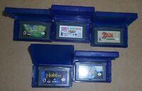 Nintendo Gameboy Advance Cartridge Lot Of 5 Games LOTR,Hobbit,Candyland,+Cases