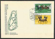 Germany (East) DDR GDR 1979 FDC Horse-Breeding Congress Racetrack Hoppegarten