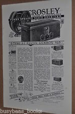 1928 CROSLEY Radio advertisement, Neutrodyne radios, Gembox Showbox etc